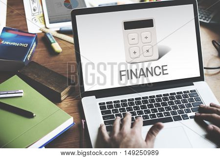 Calculator Financial Accounting Investment Graphic Concept