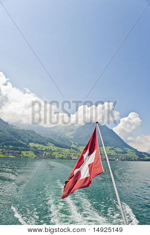 View From Vapor Ship On The Lake Of Lucerne