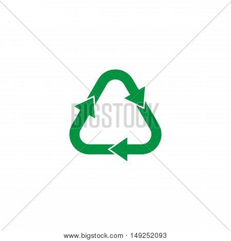 Recycle green symbol isolated on white background vector illustration