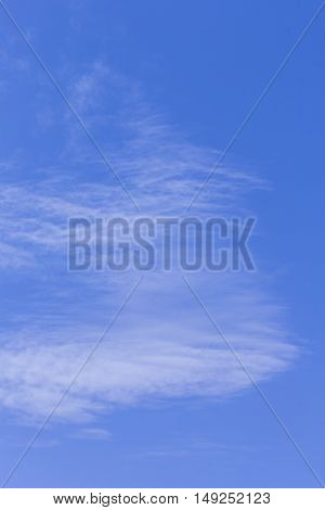 Beauty Nature cloudscape with blue sky and white cloud