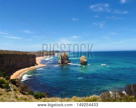 View from the cliffs of the Twelve Apostles, Victoria