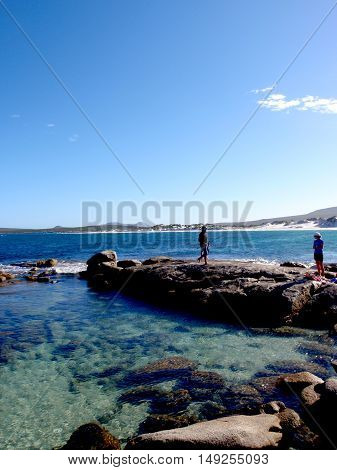 Fishing from the rocks, Esperance, Western Australia