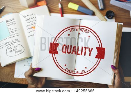 Quality Standard Value Worth Level Class Grade Concept