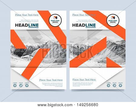 Cover design for annual report or brochure. Booklet or flyer. Abstract presentation templates. Creative concept in bright colors. Vector Illustration