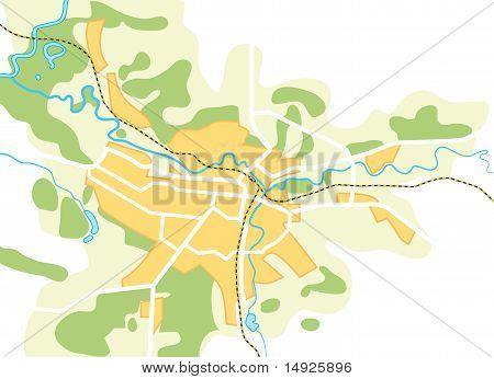 Vektorkarte der Stadt