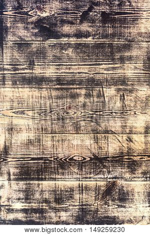 Old Shabby Yellow Wooden Worn Out Boards Texture
