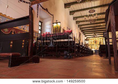 San Juan Capistrano, CA, USA --September 25, 2016:  Serra Chapel at the Mission San Juan Capistrano in Southern California, United States. Editorial use only.