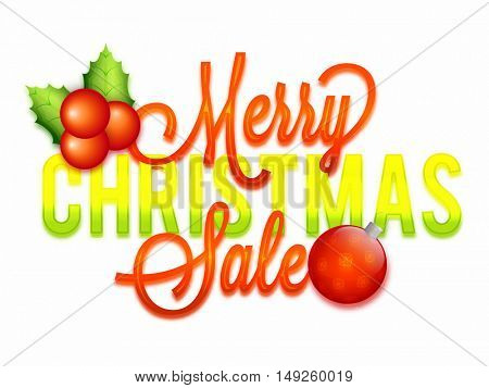Merry Christmas Sale Poster, Banner or Flyer design.