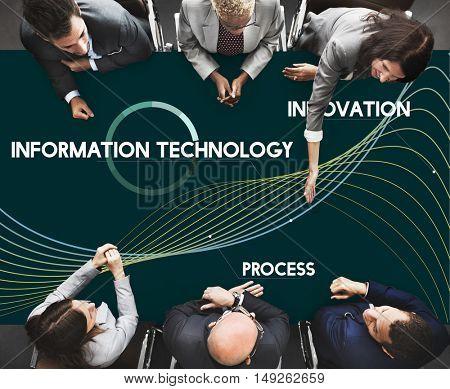 Technology Connect Development Network Process Concept