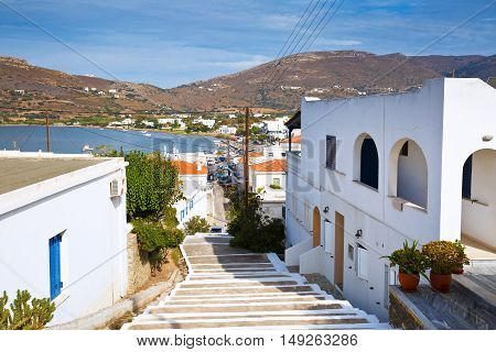Gavrio village on Andros island in Greece.