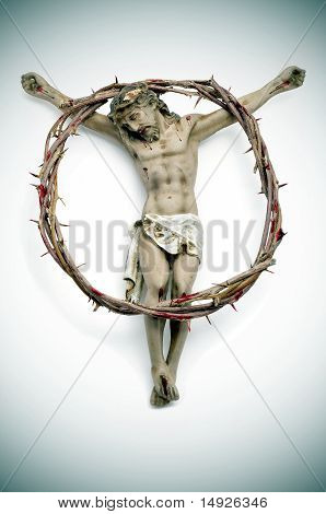 Jesus Christ And Bloody Crown Of Thorns