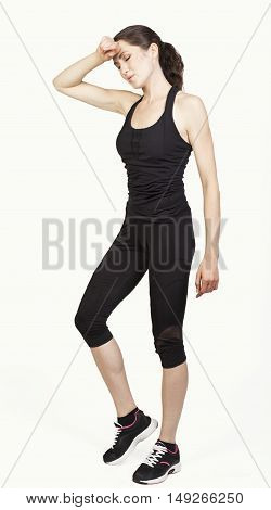 Young Attractive Sport Woman Have A Break