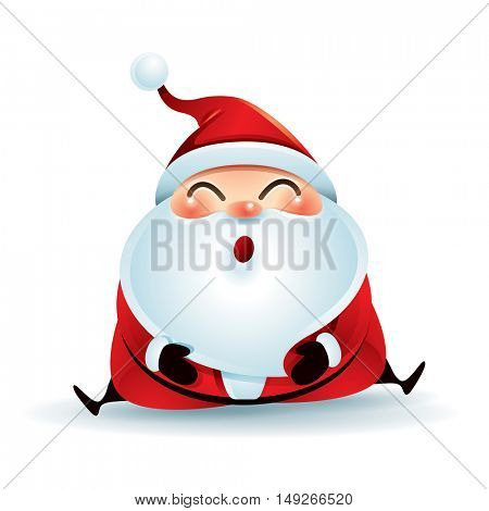 Santa Claus sitting on the floor