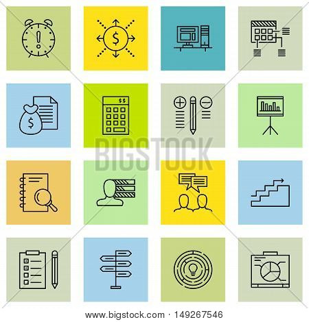Set Of Project Management Icons On Charts, Planning, Cash Flow And More. Premium Quality Eps10 Vecto