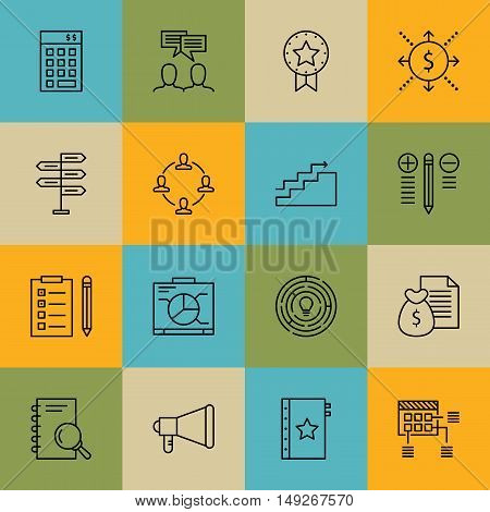 Set Of Project Management Icons On Graph, Decision Making, Investment And More. Premium Quality Eps1