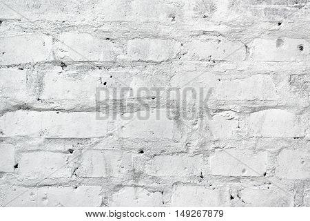 White brickwork as texture brick wall background