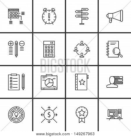 Set Of Project Management Icons On Research, Promotion, Decision Making And More. Premium Quality Ep