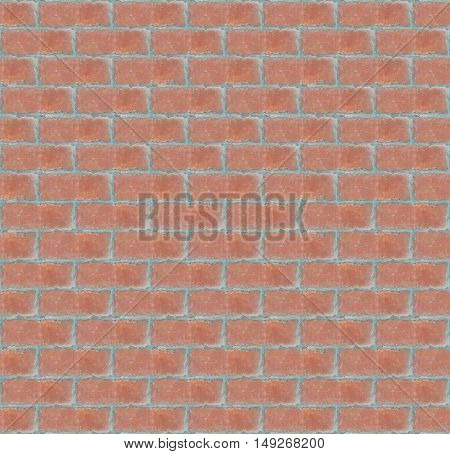 seamless architectural detail of red bricks wall