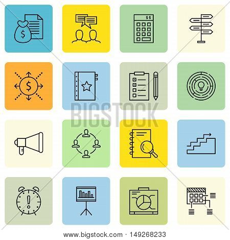 Set Of Project Management Icons On Money Revenue, Charts, Deadline And More. Premium Quality Eps10 V