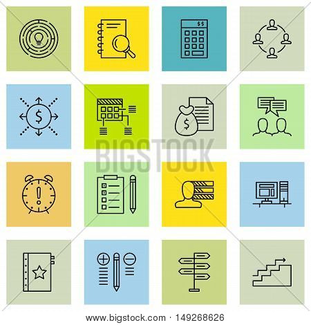 Set Of Project Management Icons On Money Revenue, Investment, Deadline And More. Premium Quality Eps
