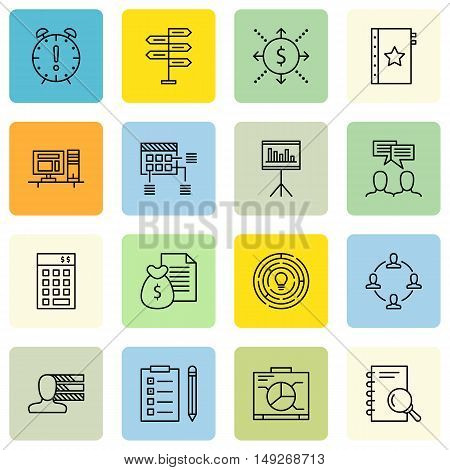 Set Of Project Management Icons On Research, Graph, Money Revenue And More. Premium Quality Eps10 Ve