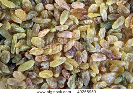 Raisins as an abstract texture for background