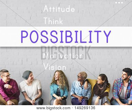 Attitude Possible Creative Inspire Simplify Words Concept
