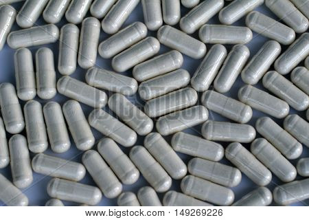 White tablet pill drug texture for background