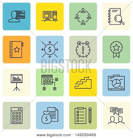 Set Of Project Management Icons On Personality, Statistics, Team Meeting And More. Premium Quality E