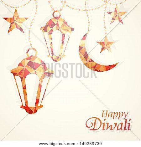 Traditional Indian festival Diwali greeting card design