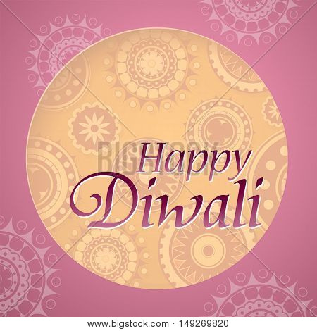Diwali festival greeting card design with traditional ornament