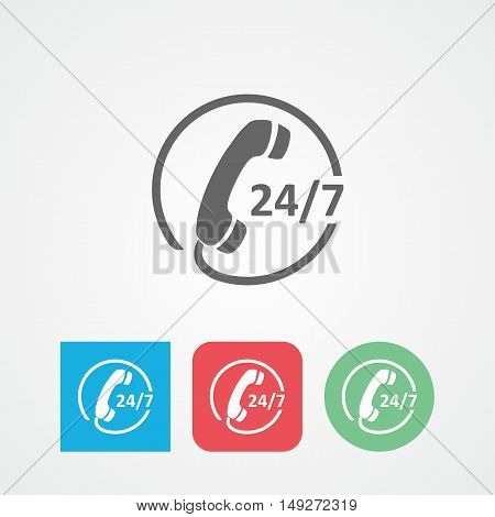 Call center flat vector icon. Customer care sign.