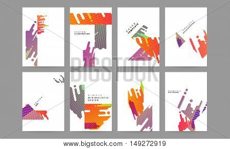 Cover Design Set for Annual Report, Presentation, Leaflet and Flyer in A4 size
