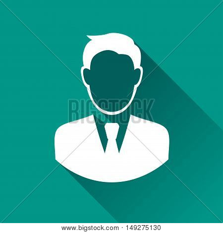 Illustration of business man icon with shadow