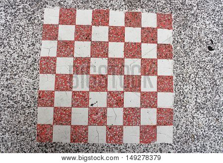 stone wall texture, Terrazzo Floor pattern checkerboard for background.