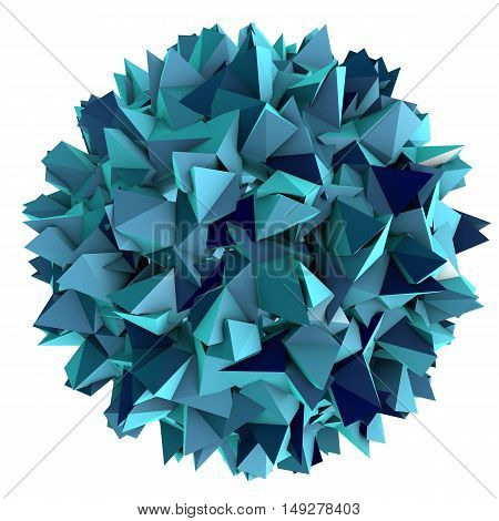 Low-polygonal model of virus. Hepatitis B virus. 3D illustration