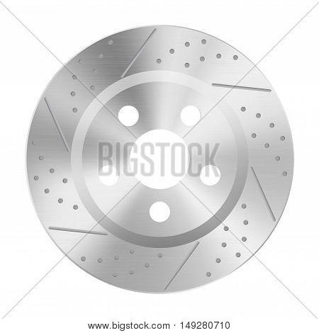Brake disc. Vector illustration isolated on white background