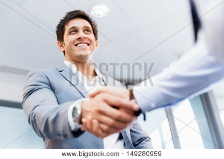 Handshake of businessmenoncepts - soft focus