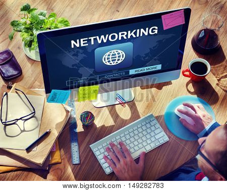 Global Communication Connection Networking Graphic Concept