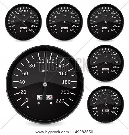 Speedometer. Vector ilustration isolated on white background