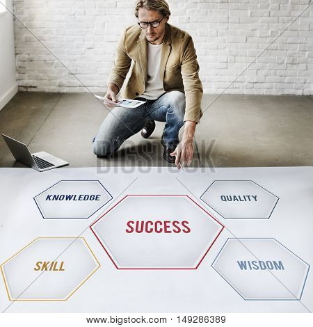 Success Training Development Geometric Forms Graphic