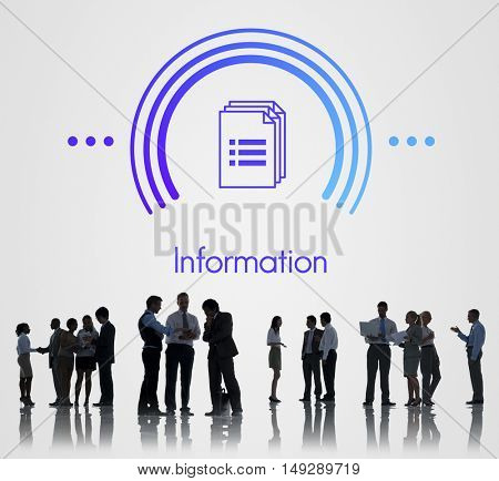 Data Information Documents Icon Concept