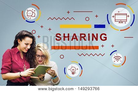 Sharing Connection Online Technology Network Concept