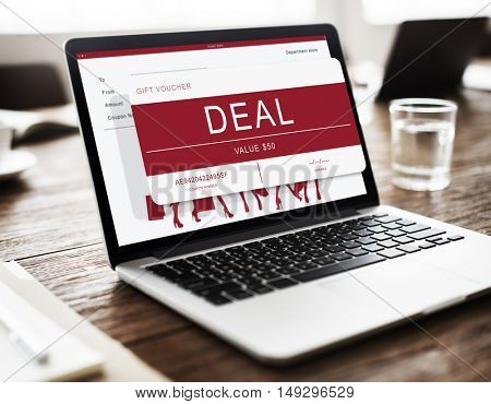 Deal Advertising Coupon Deal Concept