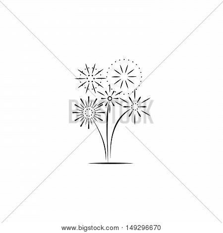 Firework company logo design on white background. Vector illustration