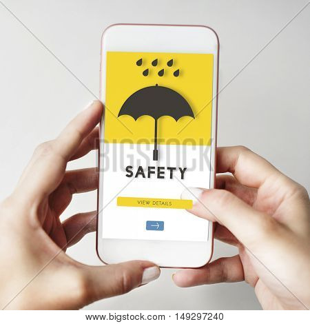 Safety Smart Phone Digital Device Concept