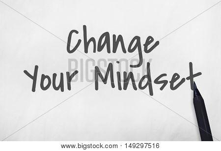 Change Your Mindset Positive Concept