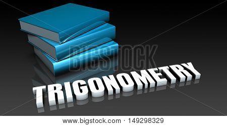 Trigonometry Class for School Education as Concept 3D Render