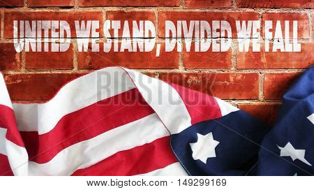 United We Stand, Divided We Fall. Brick Wall