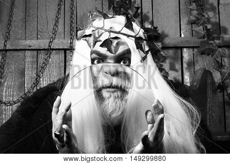 Zeus With Magnifying Glass